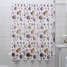 """Штора для ванной 180х180 см """"Галька"""", EVA"""