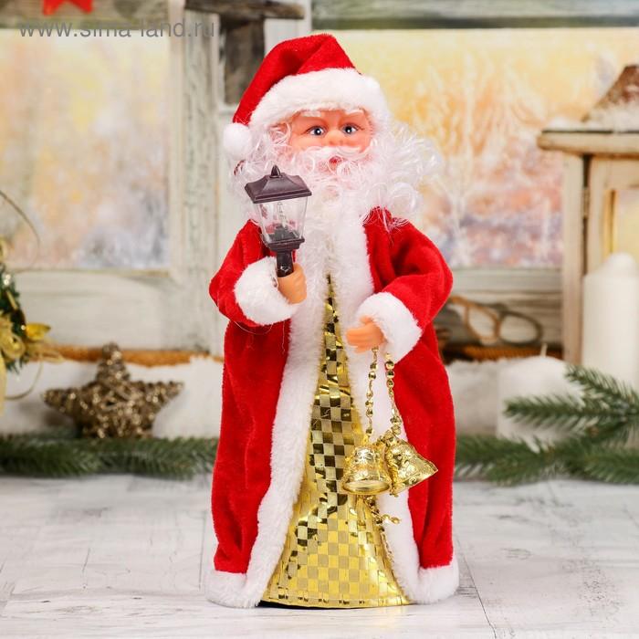 Дед Мороз, с фонарём, крутящийся, русская мелодия