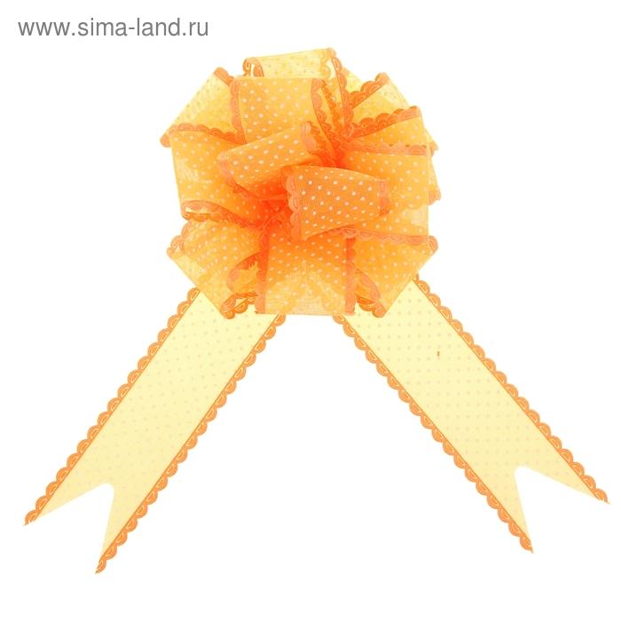 """Бант-шар №3,8 """"Крапинка"""", цвет оранжевый"""