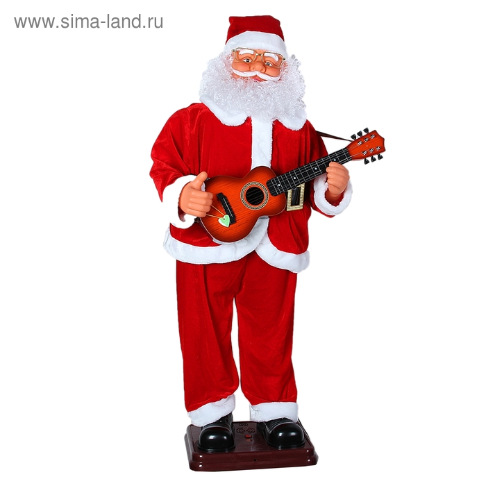 "Дед Мороз ""Гитарист"", английская мелодия, танцует"