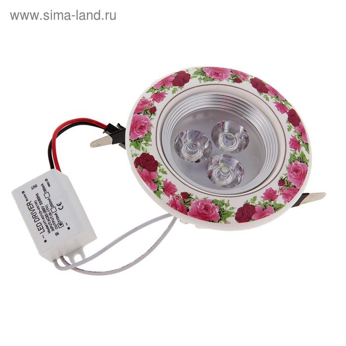 Светильник встраиваемый H4, 3х1W, 6500К, 230/12В (10*10*5 см) металл