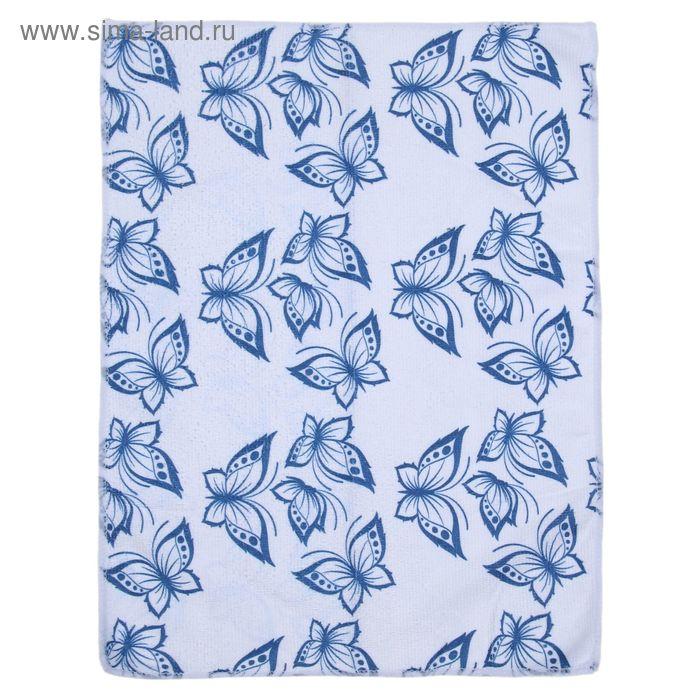 "Салфетка для уборки ""Бабочки"", 30*40 см, цвета МИКС"