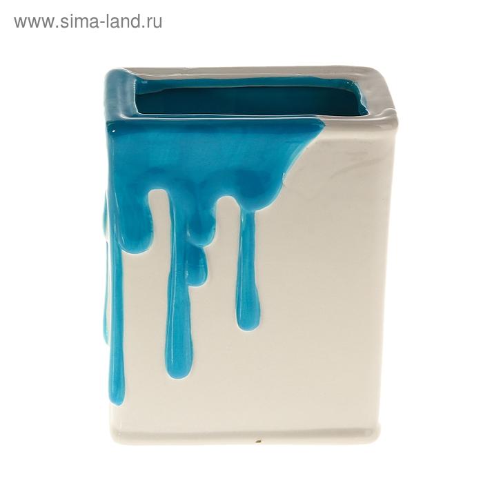 """Кашпо """"Краска"""" синее"""