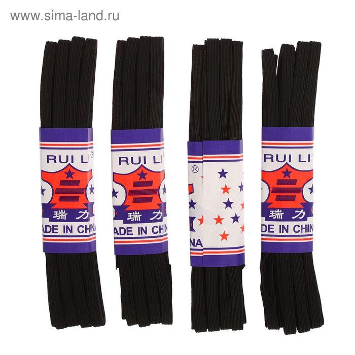 Резинка бельевая, ширина - 8мм, 4,5м, 4шт, цвет чёрный