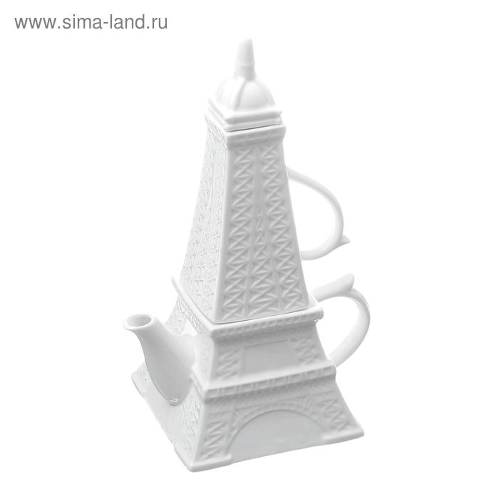 "Набор чайный ""Париж"", 2 предмета: чашка 300 мл, чайник 450 мл"