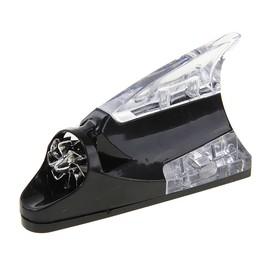 """Плавник светодиодный """"Акула"""", Luazon, LED, работает от ветра, черный"""