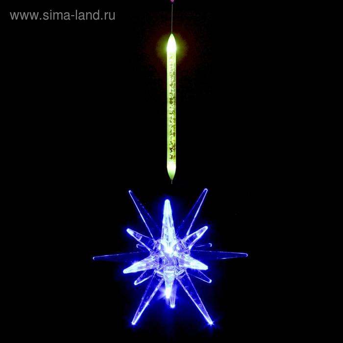 "Игрушка светящаяся подвесная ""Звезда"", 8х8 см, батарейки в комплекте"