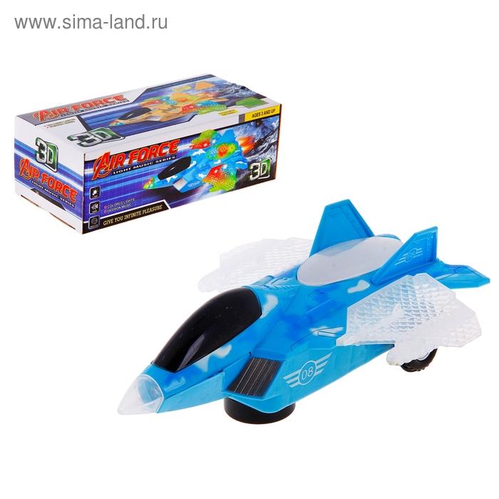 """Самолет """"Воздушный бой"""", работает от батареек, световые и звуковые эффекты, цвета МИКС"""