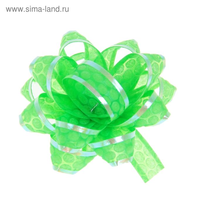 "Бант-звезда №5 ""Соты"", цвет зелёный"