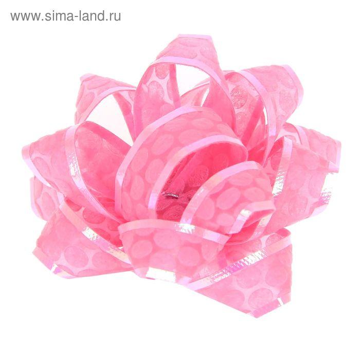 "Бант-звезда №5 ""Соты"", цвет розовый"