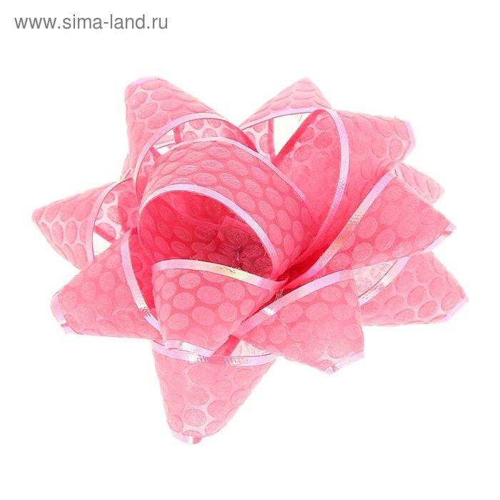 "Бант-звезда №7,5 ""Соты"", цвет розовый"