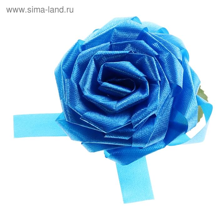 Бант-роза №8,5, цвет голубой