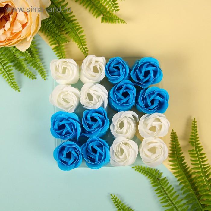 """Мыльные лепестки (набор 16 шт) """"Кураж"""", цвет бело-голубой"""