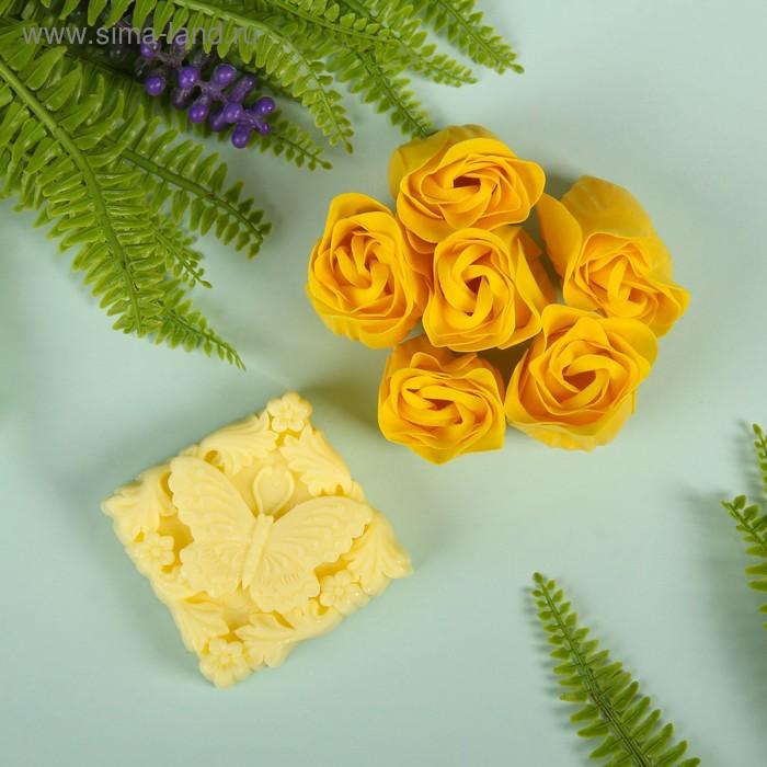 """Набор подарочный """"Бабочка"""": мыльные лепестки (набор 6 шт), мыло сувенирное, цвет желтый"""