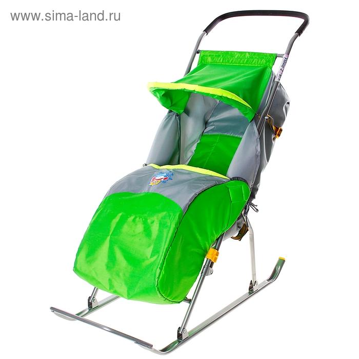 """Санки-коляска """"Умка 2"""", цвет зеленый"""