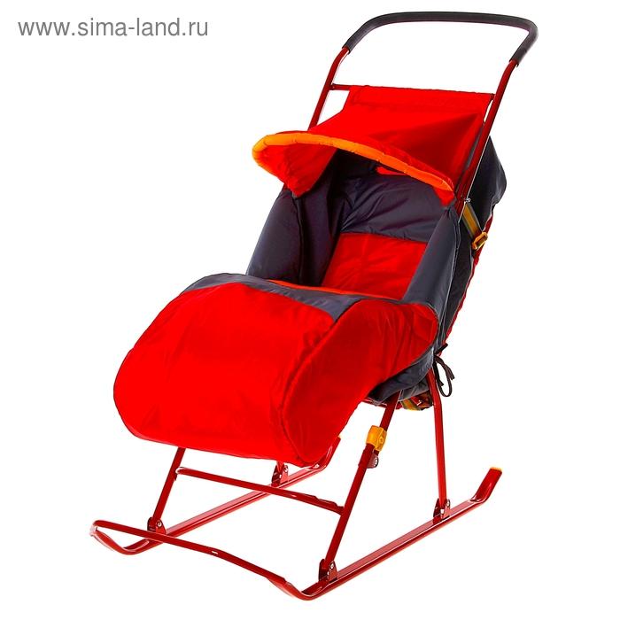 """Санки-коляска """"Умка 2"""", цвет красный"""