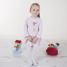 Детские колготки, 5-6 л, 110-116 см, 80% хл.15% п/э, 5% спандекс, цвет белый