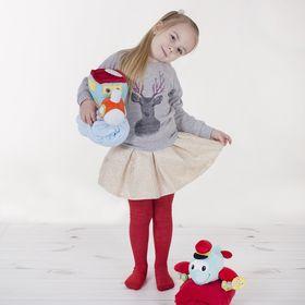 Детские колготки, 2-3 г, 86-92 см, 80% хл.15% п/э, 5% спандекс, цвет красный