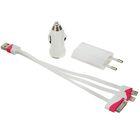 Универсальное зарядное устройство для сотовых телефонов i4/i5/MicroUSB