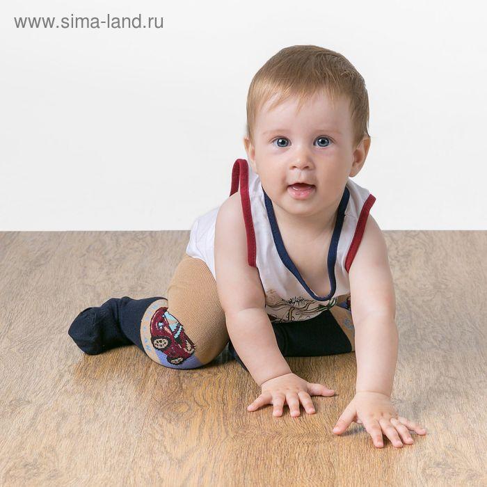 """Детские колготки с рисунком """"Гонка"""", L/1-2 г. 74-80 см, 80% хлопок, 15% п/э, 5% спандекс"""