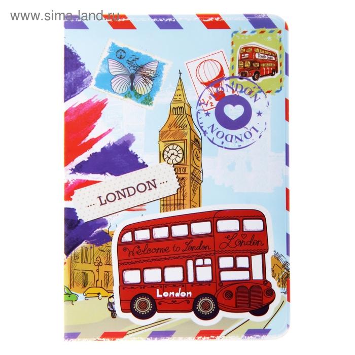 """Обложка для паспорта """"I LOVE LONDON"""""""