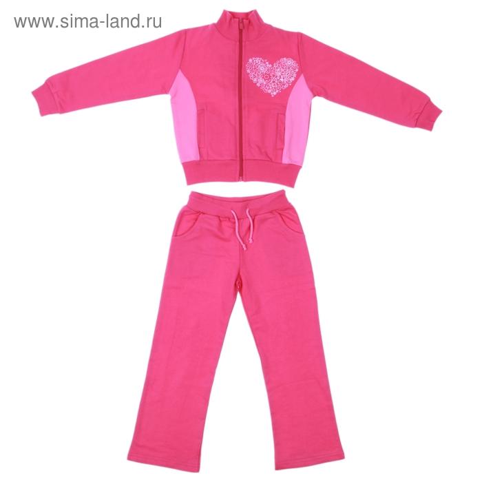 Костюм для девочки (толстовка+брюки), рост 104-110 см, цвет МИКС М-201