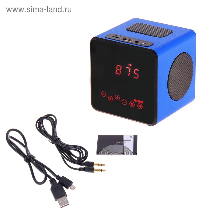 Портативная колонка MusicBOX, USB/MicroSD/FM/AUX сенсор, АКБ 3.7V, МИКС