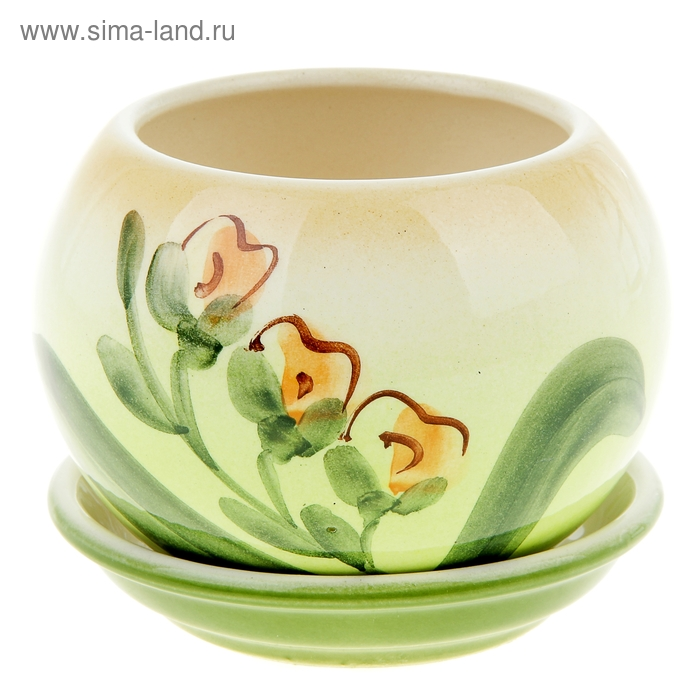 """Кашпо """"Шар"""" орхидея, 0,4 л"""