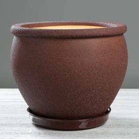 "Кашпо ""Вьетнам"" шёлк, шоколадное 10 л"