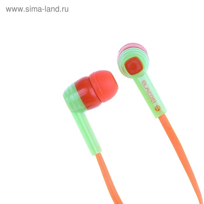 Наушники Luazon LV-022, вставные, цветные, с микрофоном микс