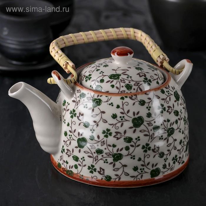 """Чайник заварочный 600 мл """"Виньетки"""", цвет зеленый"""