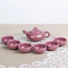 """Набор для чайной церемонии """"Лунный камень. Сирень"""", 7 предметов: чайник 150 мл, чашки 50 мл"""