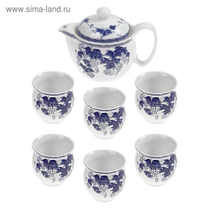 """Набор для чайной церемонии 7 предметов """"Виноградная лоза"""" (чайник 400 мл, чашка 70 мл)"""