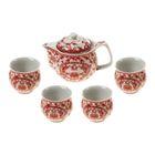 """Набор для чайной церемонии 5 предметов """"Красный иероглиф"""" (чайник 400 мл, чашка 50 мл)"""