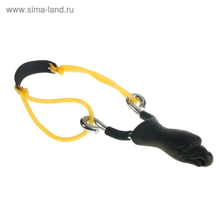 Рогатка, двойной жгут, ушки круглый, рукоять в форме орла