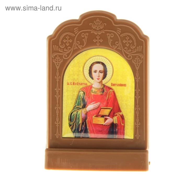 """Икона на подставке """"Великомученик и Целитель Пантелеимон"""""""