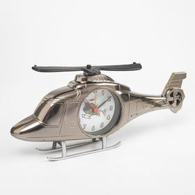"""Будильник с фоторамкой """"Вертолет"""" (11,5 х 15 см), цвета МИКС"""