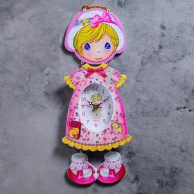 """Часы настенные детские """"Девочка в панамке"""""""