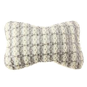 Ортопедическая подушка на подголовник кресла текстиль с рисунком полоска