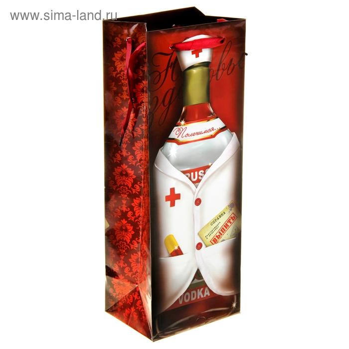 Пакет ламинат под бутылку «Доктор»,13 х 36 см
