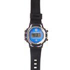 Часы наручные мужские электронные на силиконовом ремешке, с серыми вставками, цвета МИКС