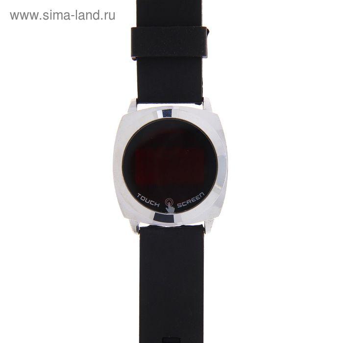 Часы наручные Led влагозащищенные на силиконовом ремешке, цвет черный