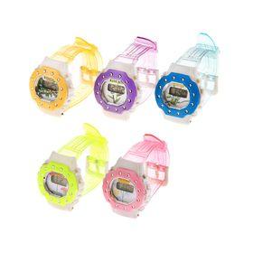 Часы наручные электронные «Цветы», детские, с силиконовым ремешком, декор стразы, микс Ош