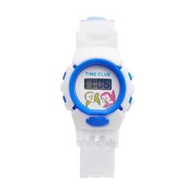 Часы наручные электронные «Счастье», детские, силиконовый ремешок, белый, циферблат микс Ош