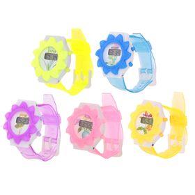 Часы наручные электронные «Солнышко», детские, с силиконовым ремешком, микс Ош