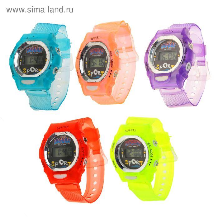 Часы наручные женские электронные на силиконовом ремешке, цвета МИКС