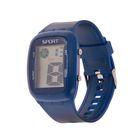 Часы наручные женские электронные влагозащищенные, прямоугольный циферблат, цвет синий