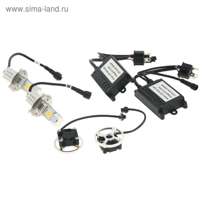 Светодиодные лампы Н4, ближний/дальний, 50 W, 2400 Lm, 5000 K, LED CREE, 12-24V
