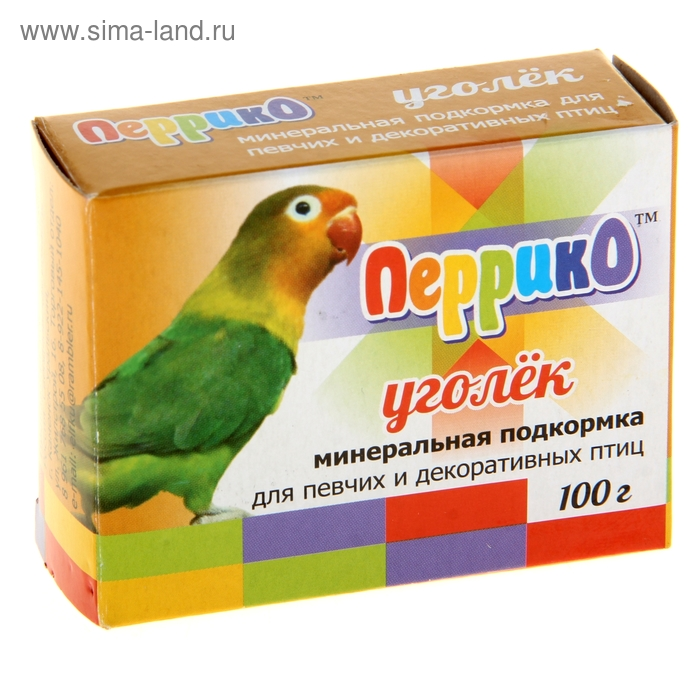 """Минеральная подкормка для птиц """"Уголек"""", 100 гр., коробочка"""