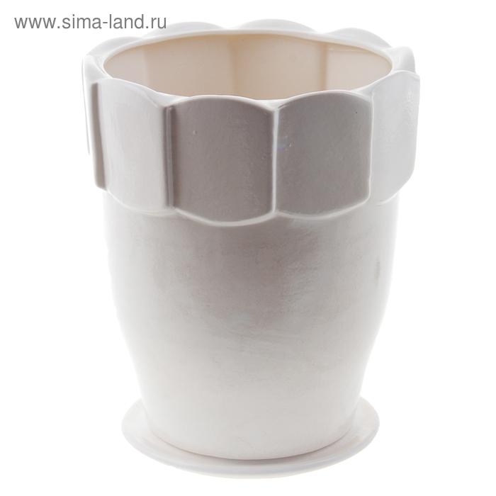 """Кашпо """"Визит"""" белое 3,5 л"""